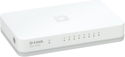 D Link 5 Port 10/100Mbps Desktop Switch Network Switch white gray D Link Switches