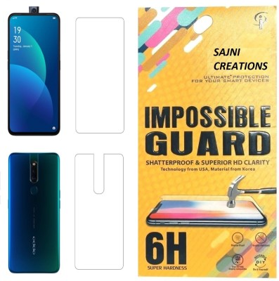 Sajni Creations Front and Back Screen Guard for OPPO F11 Pro, OPPO K3, Realme X(Pack of 1)