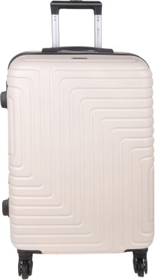 Times Bags HH136824 White Check in Luggage   24 inch White