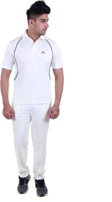 POWERHAWKE Solid Men Polo Neck White T-Shirt