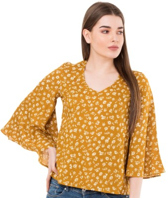 Mormukut Casual 3/4th Sleeve Printed Women's Multicolor Top