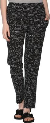 69GAL Printed Women's Black Track Pants