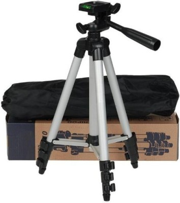 ROAR HSM_426H_3110 Camera Tripod smart phones compatiable Portable tripod with bluetooth remote||360 degree tripod|| Foldable triopod|| Camera stand|| Mobile Tripod|| Camcorder tripod|| Camera mount|| Extendable tripod||Three-Dimensional Head & Quick Release Plate|| Compatible with android & IOS sma 1