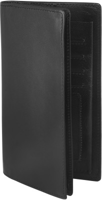Carme Men Black Artificial Leather Wallet 10 Card Slots