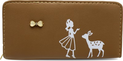 Nikush Women Casual Brown Artificial Leather Card Holder(4 Card Slots)