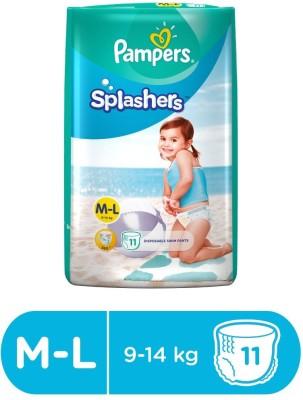 Pampers Splashers Disposable Swim Pants Diapers Large Size 11 Pc (L-11) - L  (11 Pieces)