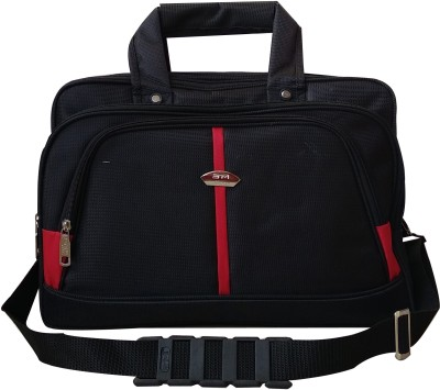SM 16 inch Expandable Laptop Messenger Bag Black