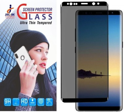 jacure Edge To Edge Tempered Glass for Galaxy Note 8 Privacy Screen Protector[3D Curved Case Friendly 9H Hardness Film Screen Protector for Samsung Galaxy Note 8(Pack of 1)