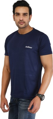 LeeRooy Solid Men's Polo Neck Reversible Blue T Shirt