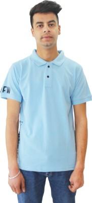 Matelco Solid Men Polo Neck Light Blue T Shirt