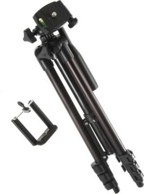 footloose 3120 Universal Portable Digital Camera Professional Portable Legs Aluminium Flexible Tripod Tripod(Black, Supports Up to 1500 g) 1