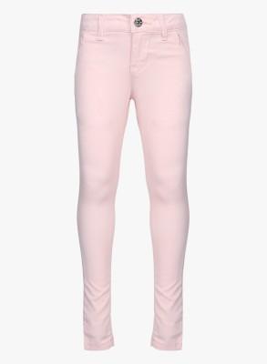 Gini & Jony Regular Fit Girls Pink Trousers at flipkart