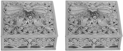 Iyaan Gift Box And Silver Box For Festivals Gifts / Jewellery Case wedding, occasions Vanity Box(Silver)