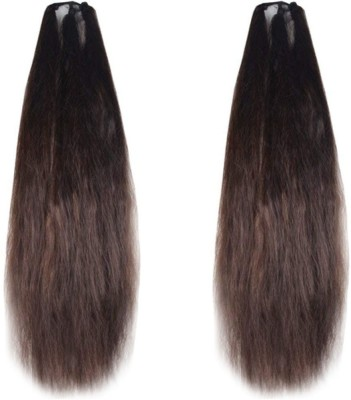 GaDinStylo Set of 2, 42Inchs Brown  Parandi For Womens/Girls Hair Extension