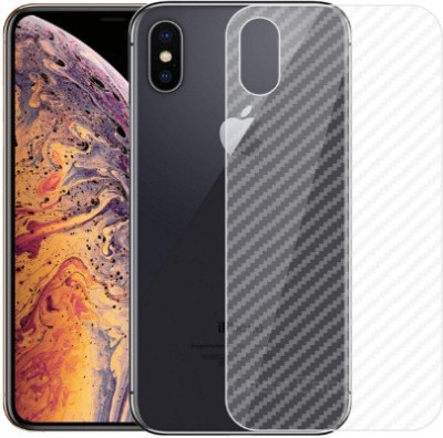 Unread gadget Skin Ultra Thin Clear Transparent 3D Carbon Fiber Back Skin Rear Screen Guard Protector Sticker Protective Film Wrap for Apple iPhone X Mobile Skin(White)