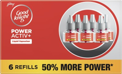 Good Knight Power Active Plus Liquid Mosquito Vaporiser Refill (6 x 45 ml)