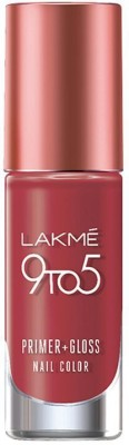 Lakme 9 to 5 Primer Plus Gloss Nail Color Ruby Rush