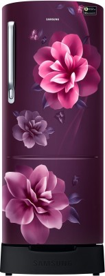 Samsung 230 L Direct Cool Single Door 3 Star Refrigerator with Base Drawer(Camellia Purple, RR24R285ZCR/NL) at flipkart