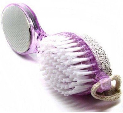 ECOSKY 4 in1 Pedicure Paddle Brush with Pumice Stone Cleanse Scrub Buff Foot Scrubber
