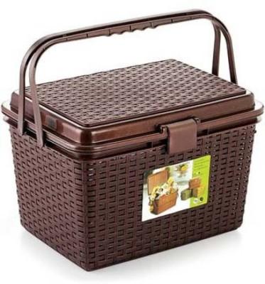 Tupperkart Basket Plastic Fruit & Vegetable Basket(Brown) at flipkart