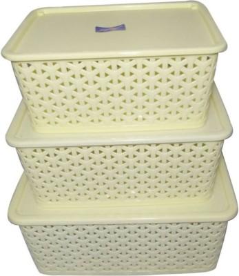 CKARSS Plastic Fruit   Vegetable Basket White