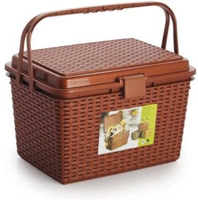 tupperkart Royal Basket Plastic Fruit & Vegetable Basket(Copper) at flipkart