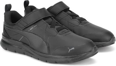 PUMA Boys   Girls Velcro Running Shoes Black PUMA Sports Shoes