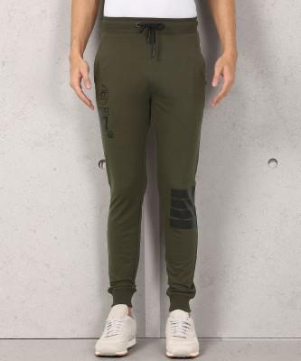 Metronaut Self Design Men Blue Track Pants