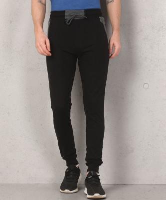 Metronaut Solid Men Black Track Pants