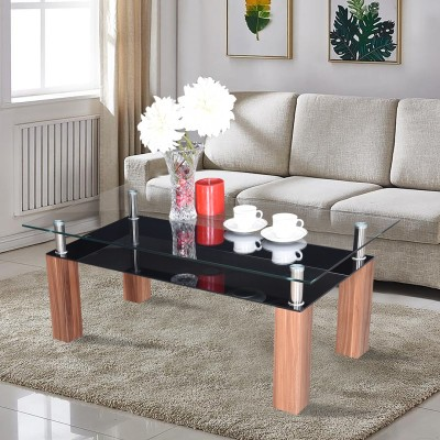 RoyalOak Beat Glass Coffee Table(Finish Color - Brown)