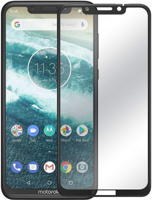 nzon Edge To Edge Tempered Glass for Moto One Power 6D Original Full Coverage Curved Scratch Proof Bubble Free 0.3mm Tempered Glass for Moto One Power Screen Protectors NZ-SLTG6DBK-8420 - Black(Pack of 1)