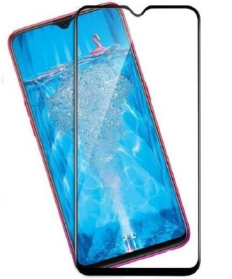 Classy Edge To Edge Tempered Glass for Oppo F9, oppo f9 tempered glass full glue black(Pack of 1)