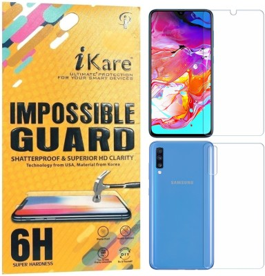 iKare Front and Back Screen Guard for Samsung Galaxy A70, Samsung Galaxy A70S(Pack of 1)