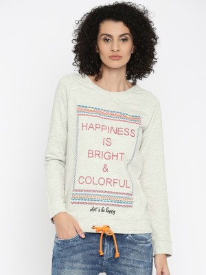 Flying Machine Full Sleeve Printed Women Sweatshirt
