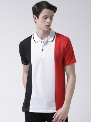 TSX Color Block Men Polo Neck Multicolor T-Shirt