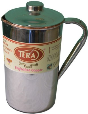 Tera India Copper jug with Steel finish outside Water Jug(1.6 L) at flipkart