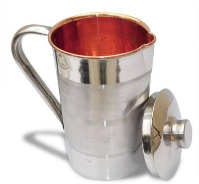 jaiguruji 1.5 L Water STEEL COPPER LUXURY Jug Silver jaiguruji Pitchers