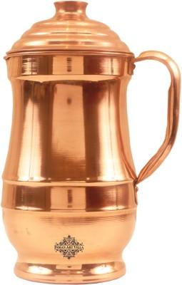 IndianArtVilla Copper Maharaja Design Plain Jug Pitcher Water Jug(1.4 L) at flipkart