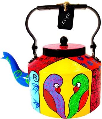 SR Crafts Multicolor Hand Painted Aluminum Tea Kettle Jug Kettle Jug(2 L) at flipkart