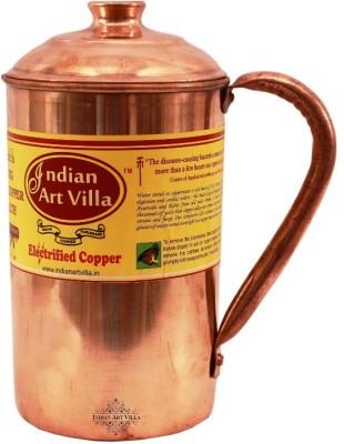 Indian Art Villa Copper Jug Pitcher - Storage Water Home Hotel Restuarnt Tableware Drinkware Water Jug(1 L) at flipkart