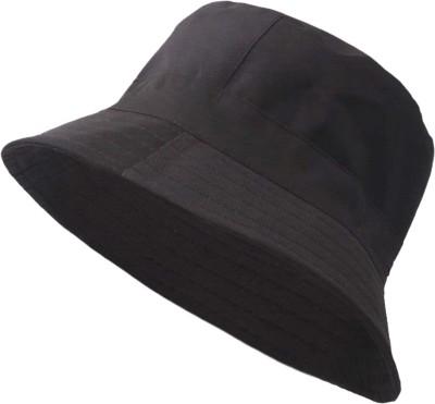 ZACHARIAS Fishermen Cotton Bucket Hat Cap(Black, Pack of 1)