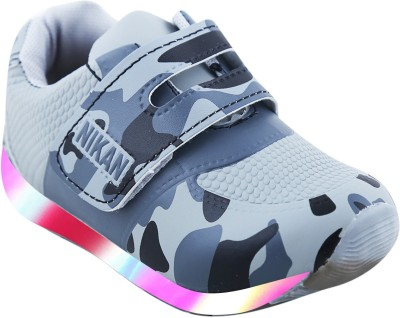 LNG Lifestyle Boys & Girls Velcro Dancing Shoes(Grey)