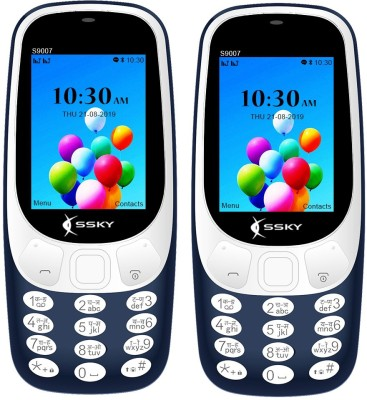 SSKY S9007 Combo of Two Mobile(Blue)