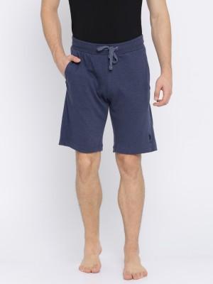 U.S. Polo Assn. Solid Men Dark Blue Night Shorts