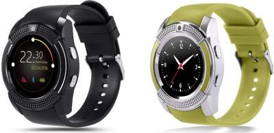 KEMIPRO MULTI FUNCTIONAL Smart Watch SILVER Smartwatch(Green Strap