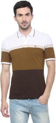 Allen Solly Color Block Men Polo Neck Multicolor T-Shirt