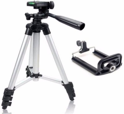 footloose Tripod-3110 Lightweight Camera Stand With Three-Dimensional Head & Quick Release Plate For Video Cameras and mobile Tripod Tripod(Silver, Supports Up to 1500 g) 1