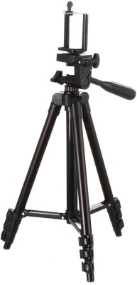 LIFEMUSIC tripod for camera Mobile Tripod With Mobile Clip Holder Bracket Tripod(Black, Supports Up to 1500 g) 1