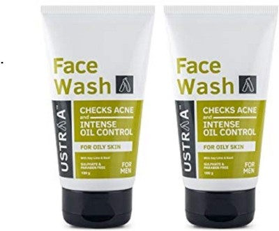 Ustraa By Happily Unmarried Oily Skin (Checks Acne & Oil Control) Facewash Pack of 2 Face Wash(200 g)