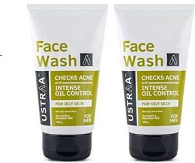 Ustraa By Happily Unmarried Oily Skin (Checks Acne & Oil Control) Facewash (200gm) Face Wash(200 g)